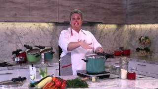 Silit Pressure Cooker Sicomatic T Plus Demonstration Risotto