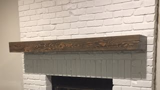 How to Install Fireplace Mantel with Hidden Bracket