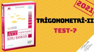 345 AYT 2021 MATEMATİK TRİGONOMETRİ-II TEST-7 ÇÖZÜMLERİ #ayt #tyt
