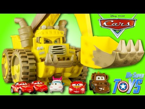 Screaming Banshee Disney Cars Toon Monster Truck Mater McQueen Toy Review Juguetes