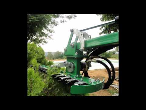 Nur ca 1000 €! Hydraulische Heckenschere für Bagger Radlader Traktor usw - Heckenschneider Astschere