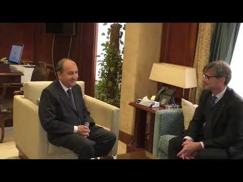 لقاء الوزير/ عمرو نصار مع الرئيس التنفيذي لشركة مرسيدس بمصر، وأحد ممثلى السفارة الالمانية بالقاهرة