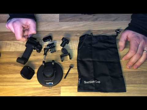 GoPro Front Saugnapfhalterung (suction cup) vertikale Schnellspannschnalle unboxing und Anleitung