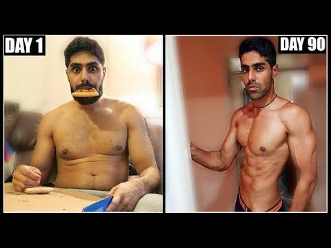 MY INSANE 90 DAY BODY TRANSFORMATION - FAT TO SHREDDED