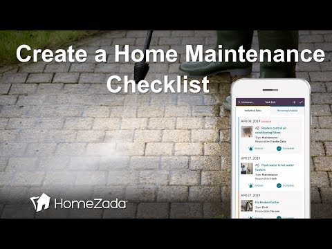 Home Maintenance Checklist: A Home Schedule of Maintenance Tips with HomeZada