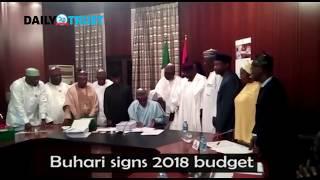 VIDEO: Buhari signs 2018 budget