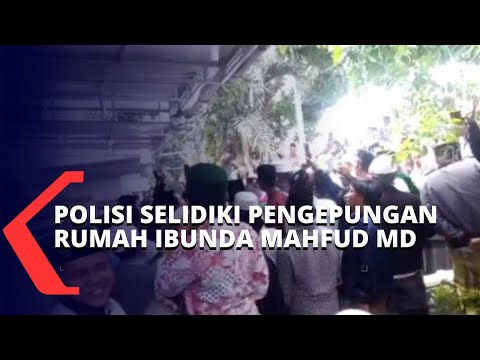 rumah ibunda mahfud md dikepung massa polisi periksa sejumlah saksi