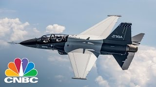 LOCKHEED MARTIN Inside Lockheed Martin's T-50A | Power Lunch | CNBC
