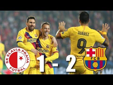 Slavia Prague vs Barcelona 1-2 – All Highlights & Goals