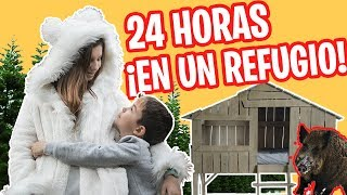 24 HORAS en una CABAÑA NATURAL en el BOSQUE // Escondite secreto FAMILUKIS