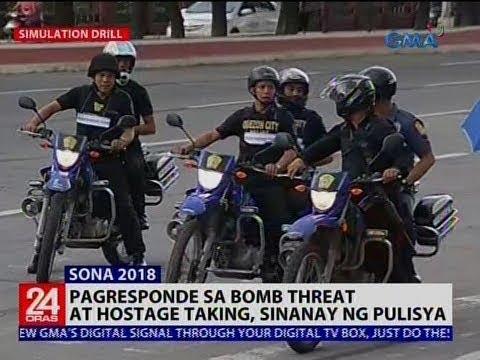 [GMA]  24 Oras: Pagresponde sa bomb threat at hostage taking, sinanay ng pulisya