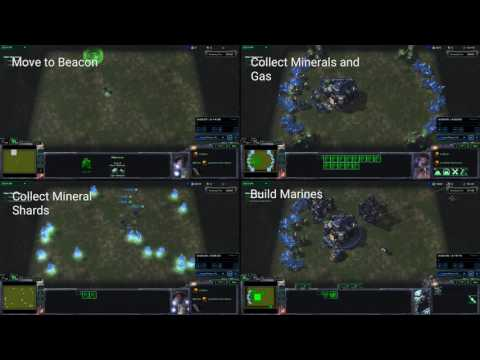 StarCraft II 'mini games' for AI research