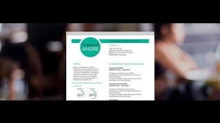 "CV moderne ""Judicieux"" - by Mycvfactory"