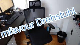 mfavour Bürostuhl zusammenbauen Schreibtischstuhl Drehstuhl mfavour Montage und Test