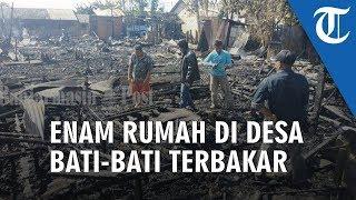 Enam Rumah di Desa Bati-Bati Kabupaten Tanahlaut Ludes Dilalap Api