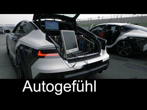 Audi RS7 piloted driving concept autonomous driving for racing - Autogefühl