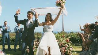 A Fun, White And Green, Modern California Wedding - Martha Stewart Weddings
