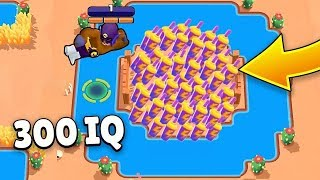 300 iQ or LUCKY?! Brawl Stars Funny Moments & Fails & Gitches