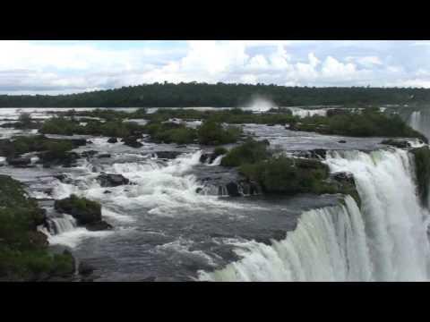 Iguazu Falls, view from Brazil over Brazil side, HD