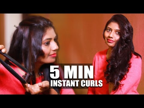 Curl Your Hair at Home using Straightener | Vinoth Bhama