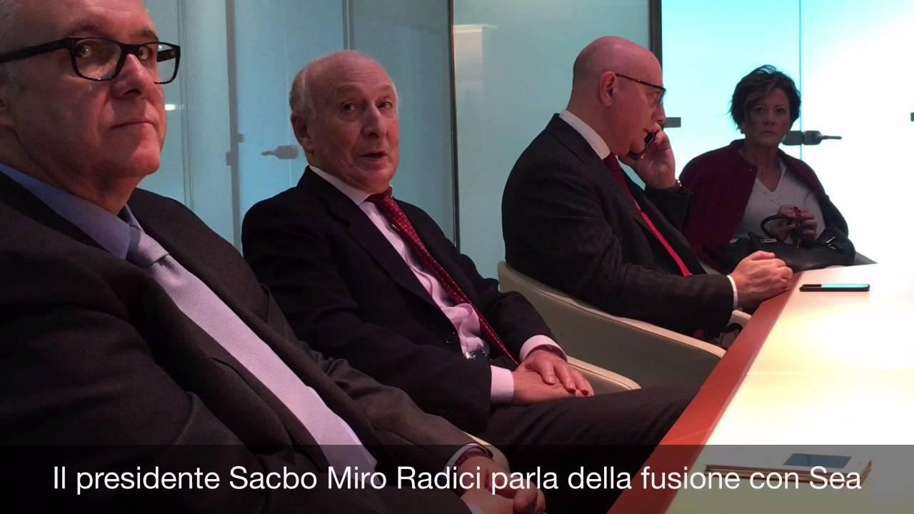 """Radici: """"Entro il 2016 la fusione con Sea"""""""