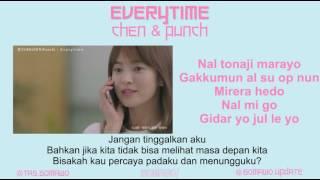 CHEN & PUNCH - EVERYTIME (Ost. Descendants Of The Sun) [MV, EASY LYRIC, LIRIK INDONESIA]