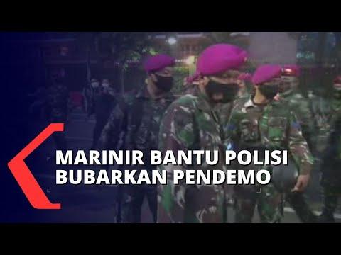 pasukan marinir bubarkan massa demo pangdam jaya berterimakasih