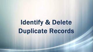 Identify and Delete Duplicate records (rows) - SQL Server