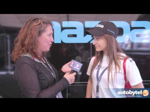 Mazda Teen Challenge racer Natalie Fenaroli at the 2014 Long Beach Grand Prix