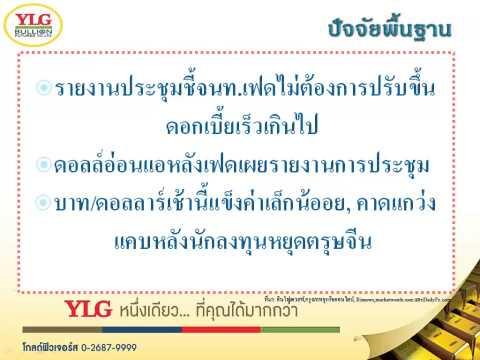 YLG บทวิเคราะห์ราคาทองคำประจำวัน 19-02-15