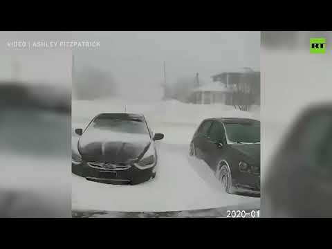 Snowstorm buries cars within hours in Newfoundland