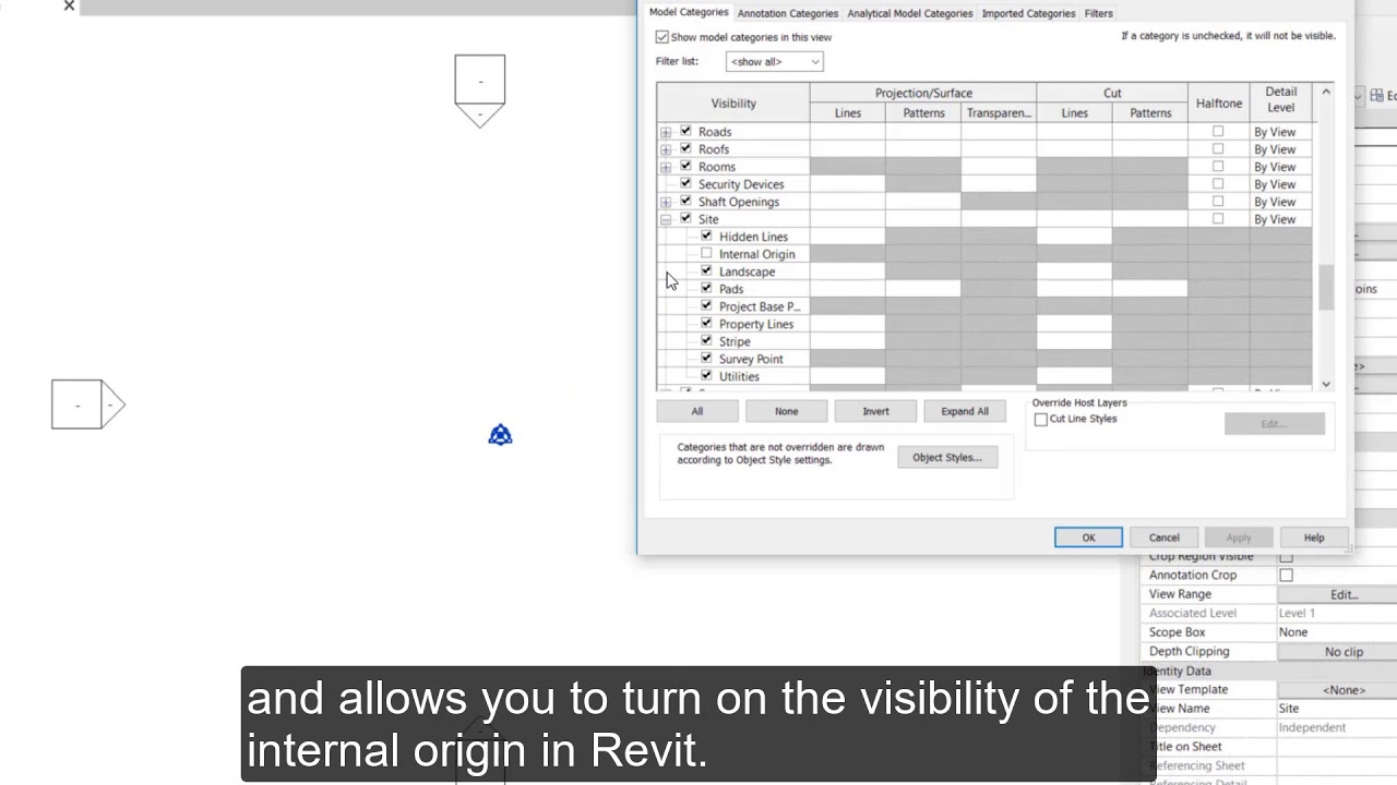 Revit 2020.2: Expose the Internal Origin of Revit Models