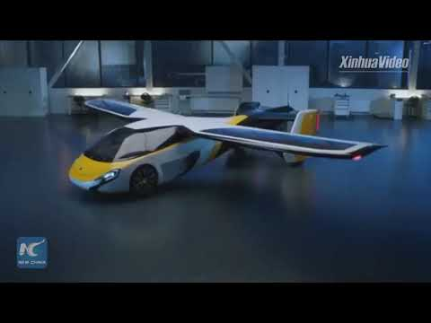 "Futuristic ""flying Car"" Arrives In Shanghai For Import Expo"