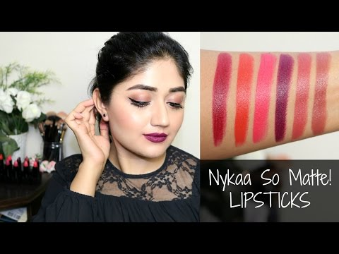 Nykaa Matte Lipsticks : Swatches, Review | corallista