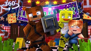 FREDDY's new TOYS?! - 360° Five Nights At Freddy's Vision - Minecraft 360° VR Video