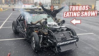 Leroy Breathes SNOW! Moving Him Into the Texas Speed Booth at PRI 2018!