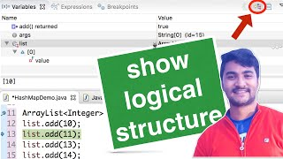 [ECLIPSE] Debug Collections effectively | Show logical structure | HashMap | ArrayList
