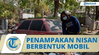 Penampakan Nisan Berbentuk Mobil di Bantul, Dilengkapi Nomor Polisi hingga Sering Didatangi Peziarah