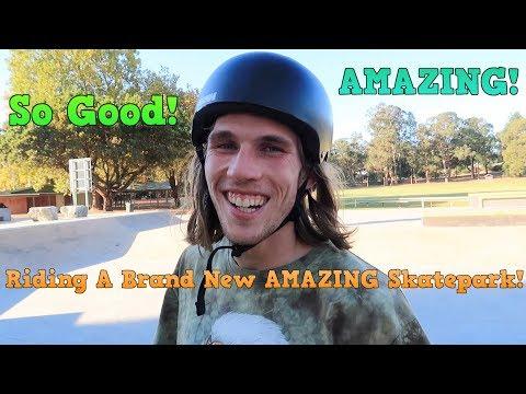 Riding A Brand New AMAZING Skatepark!