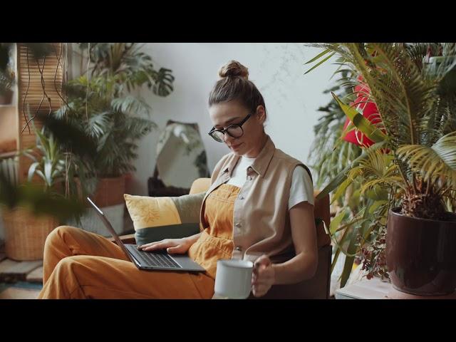 Woman Plants Video Screen