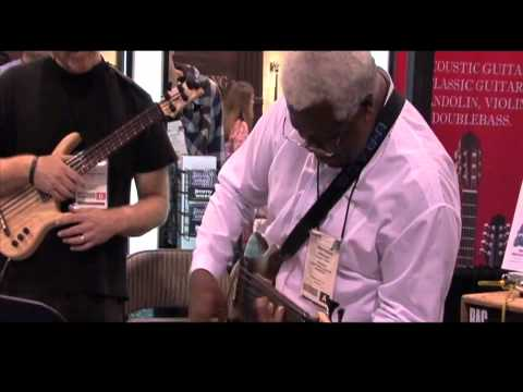 Abraham Laboriel, Daniel Ho, Steve Billman playing Kala Ukulele and UBass at NAMM, 2012