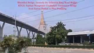 preview picture of video 'Samut Prakan Province, Bhumibol Bridge, formerly the Industrial Ring Road Bridge, Thailand. ( 1 )'