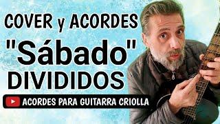 Cómo tocar Divididos Sábado con guitarra criolla Acordes Tutorial Letra Cover