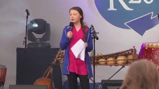 Greta Thunberg R20 Austrian World Summit 2019