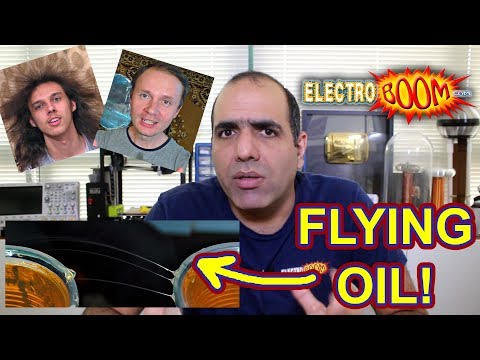 High Voltage Flying Oil Experiment with Voltage Multiplier