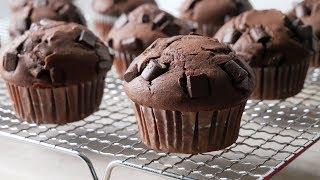 Schokomuffins Backen (Rezept) || Baking Chocolate Muffins (Recipe) || [ENG SUBS]