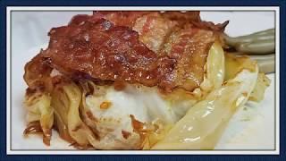 Senior Nutrition  Bacon and Cheese Topped Cabbage Steak
