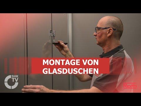 Roth: Montage von Glasduschen