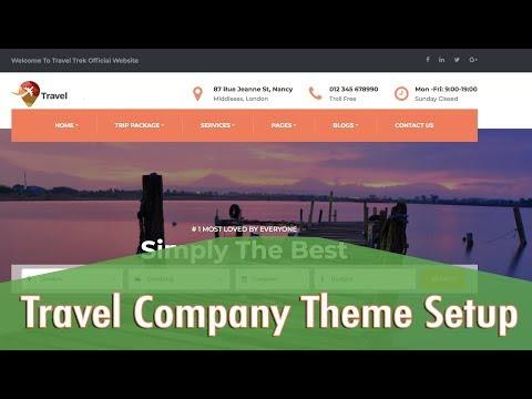 , title : 'Travel Company Theme Setup Tutorial 2018 | Just Wp Themes