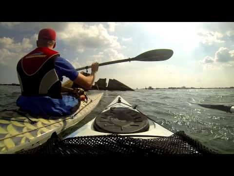 Kayaking Langstone Harbour and round the broken Phoenix Breakwater